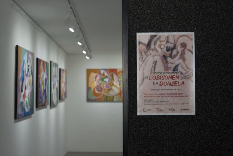 """exposição """"O lobisomem e a donzela"""""""